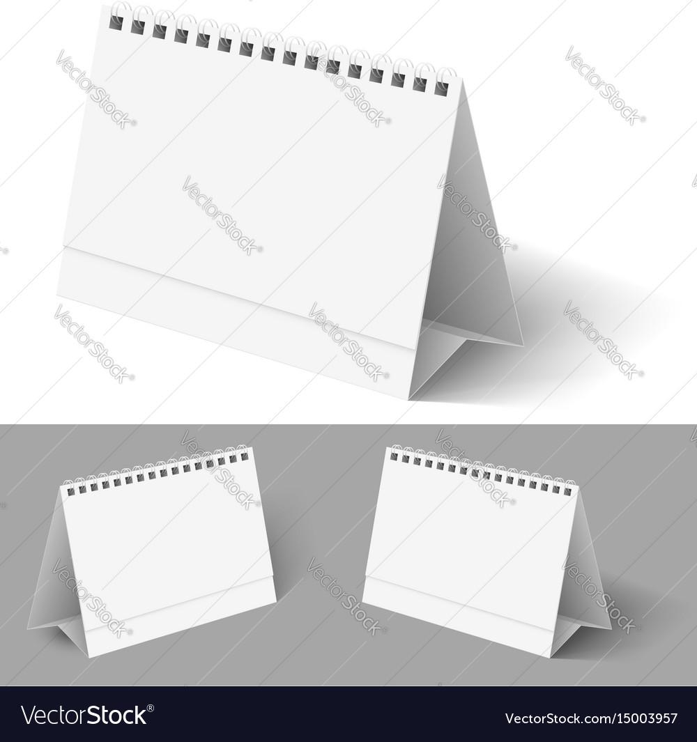 Desk calendar on white for design