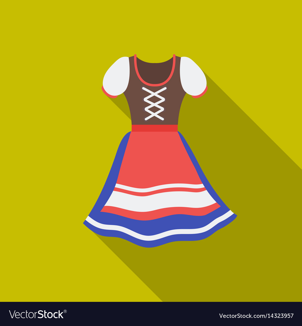 Dirndl icon in flat style isolated on white