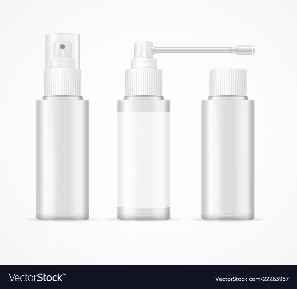 Realistic detailed 3d white blank bottle spray
