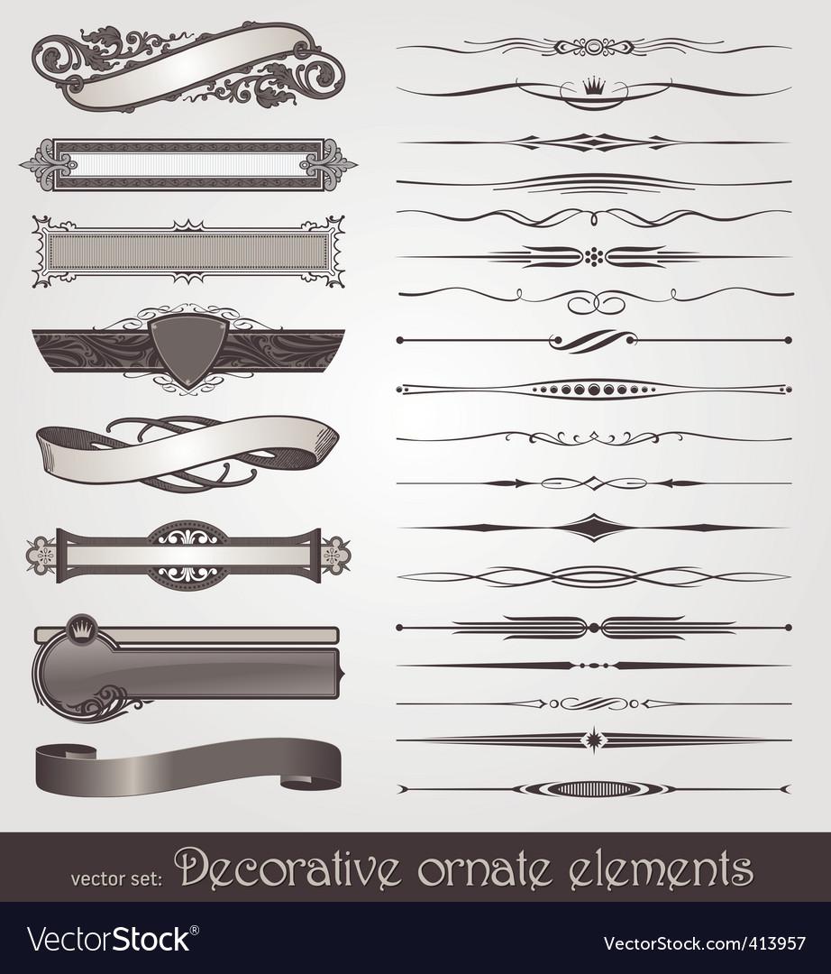 Vector ornate design elements vector image