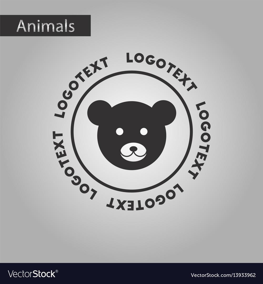 black and white style icon bear logo royalty free vector black and white style icon bear logo royalty free vector