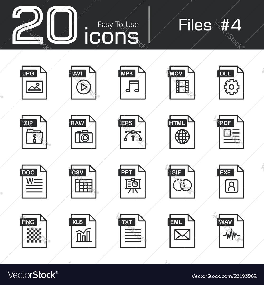 Files icon set 4