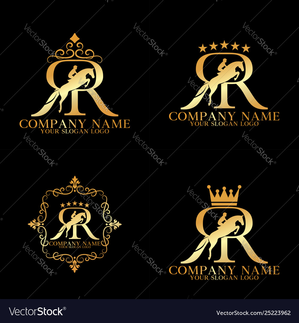 Logo Letter R And Horse Royalty Free Vector Image