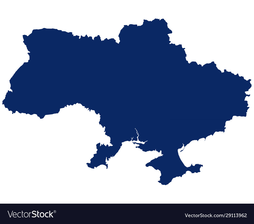 Map ukraine in blue colour Royalty Free Vector Image