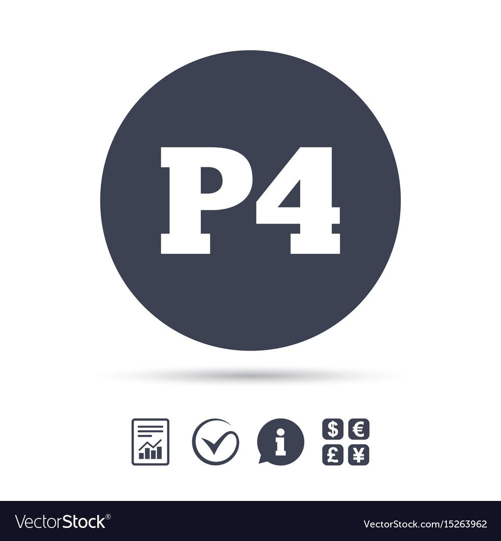 icon car parking p4 symbol Vector Image