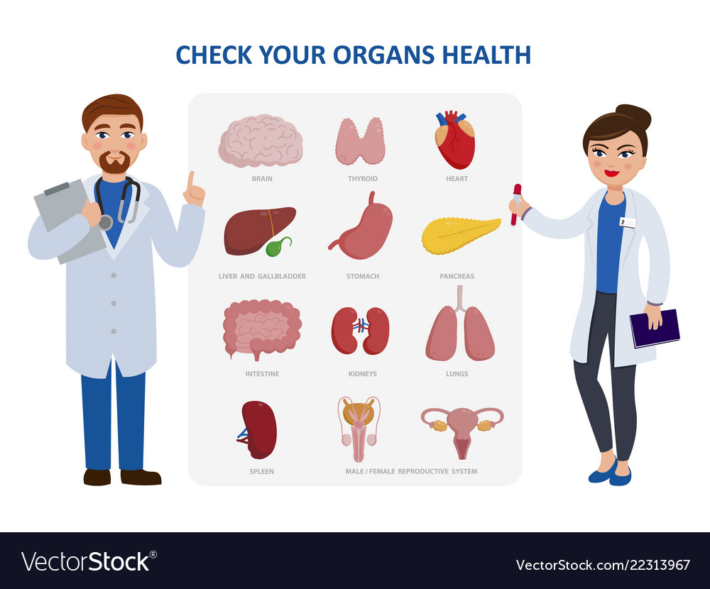 Check your internal organs health poster including