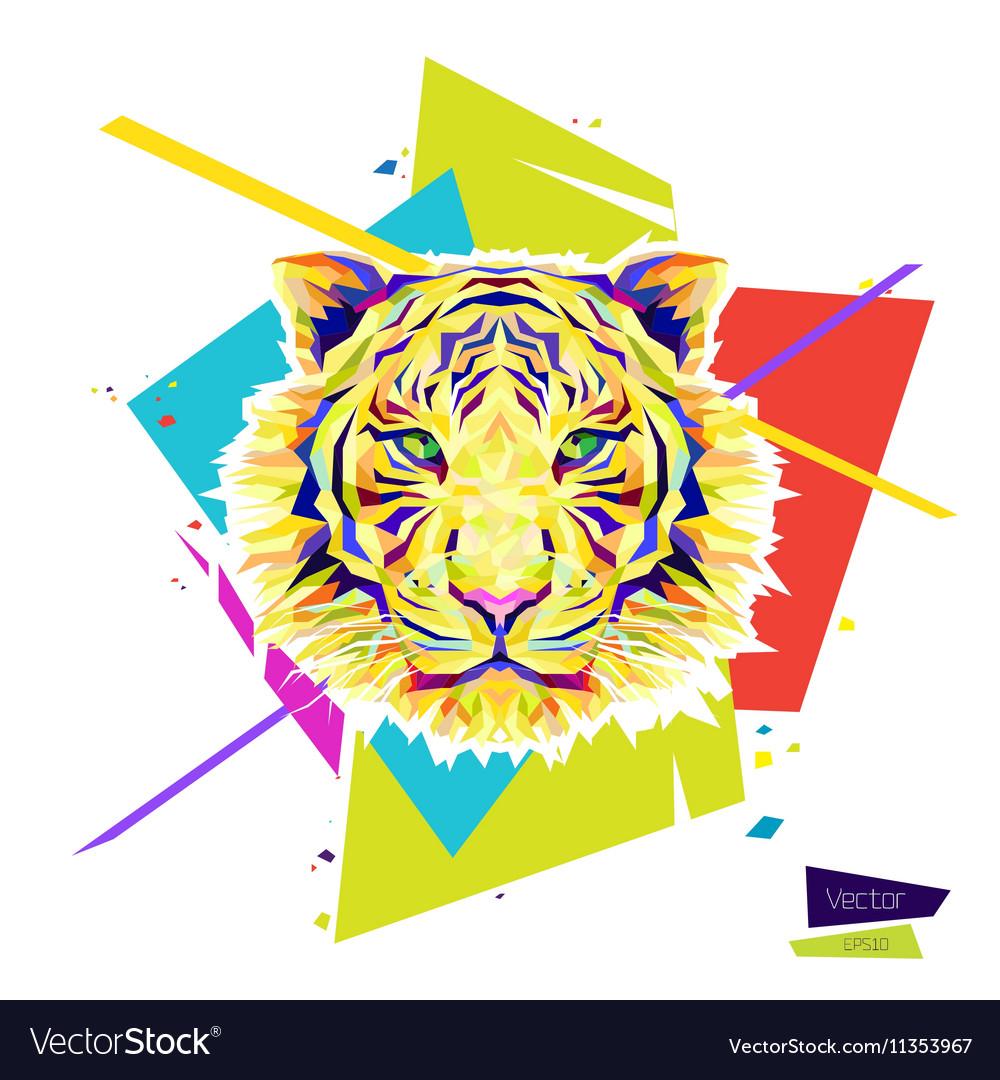 Color tiger head