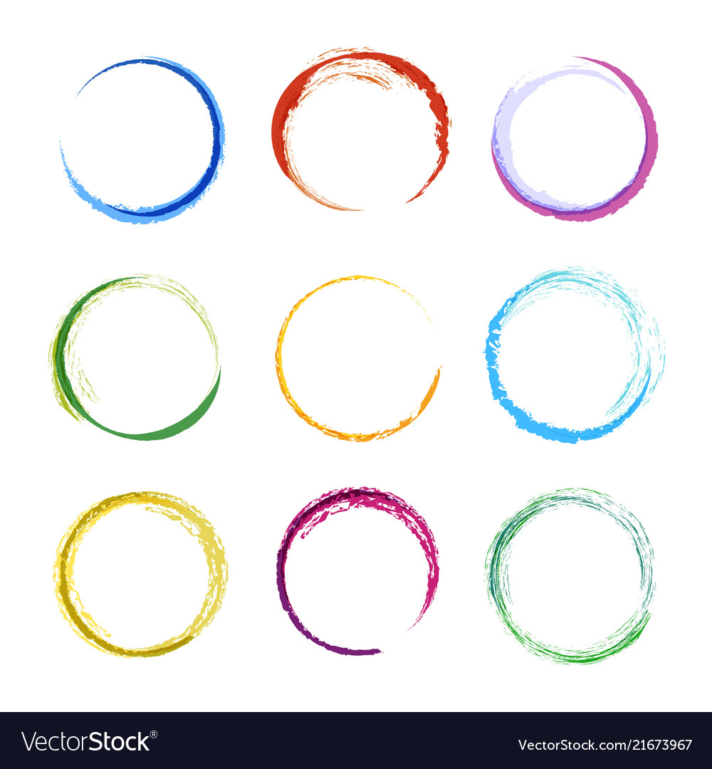 Colored Circle Shapes Abstract Round Frames For