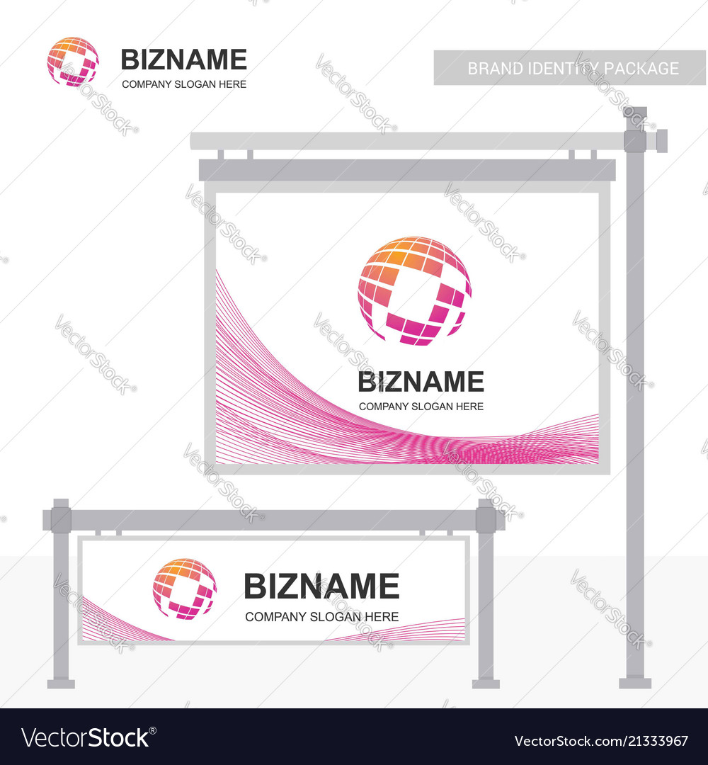 Company ads banner unique design with world map vector image gumiabroncs Images