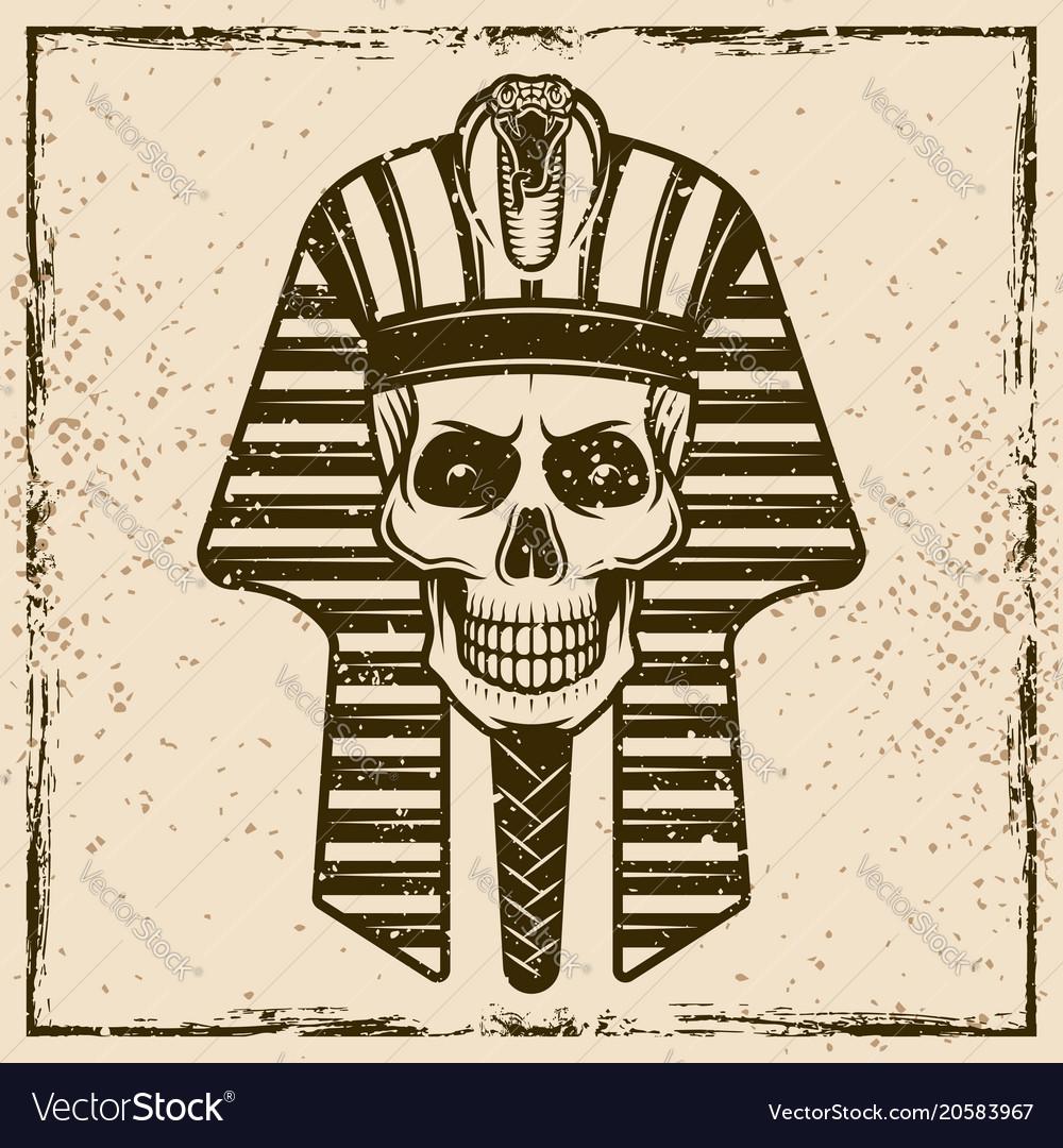 Egyptian pharaoh skull head
