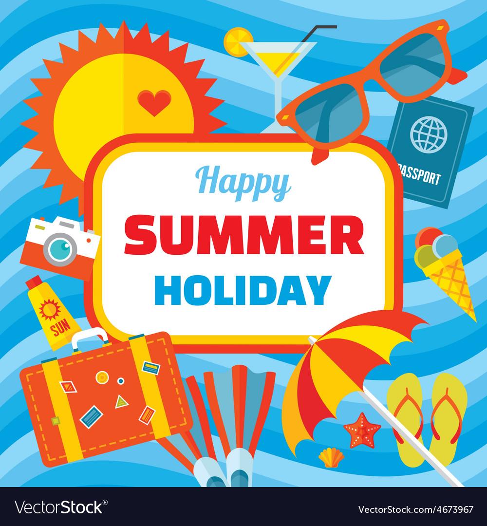 Happy Summer Holiday Creative Banner