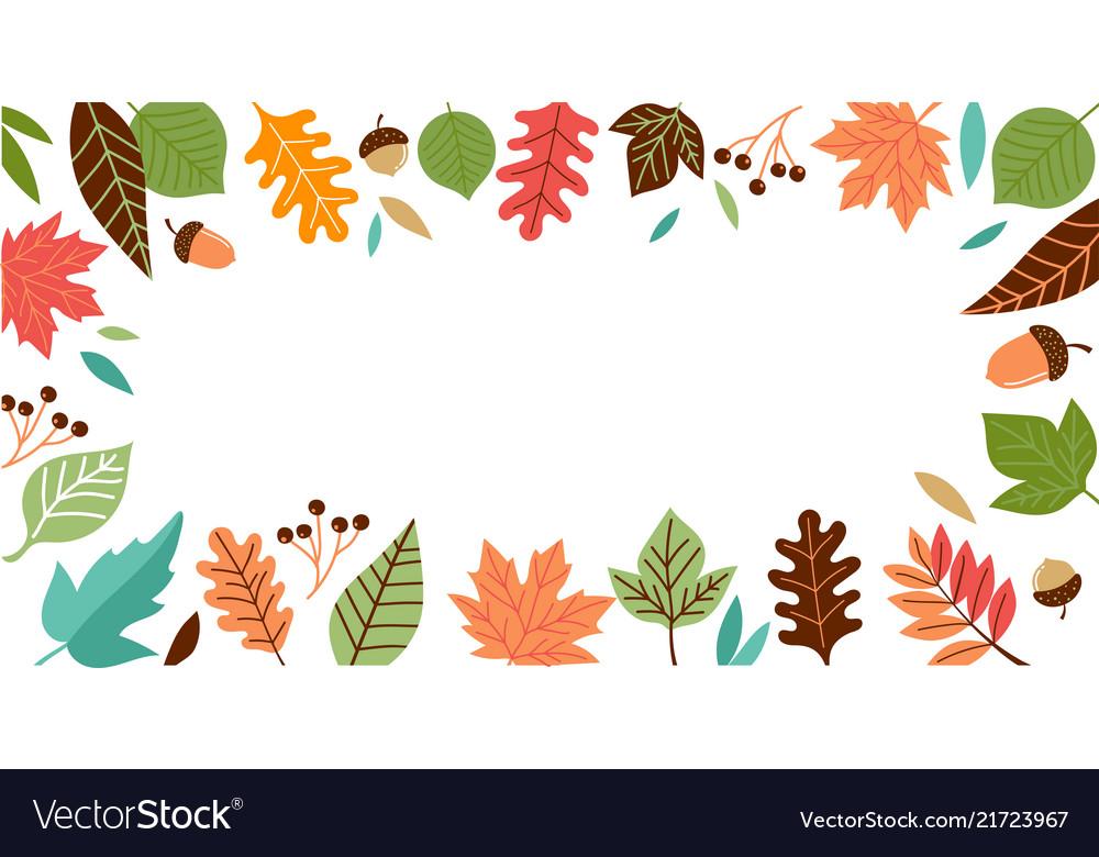 Hello autumn fall season background banner