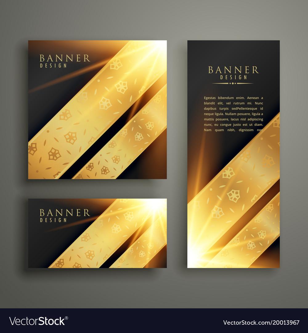 Luxury invitation banner card template design vector image