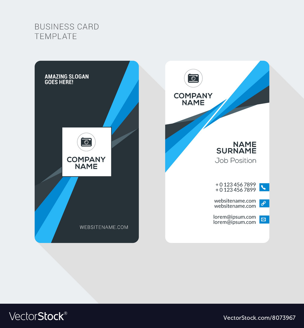 Modern creative and clean two sided business card vector image cheaphphosting Image collections