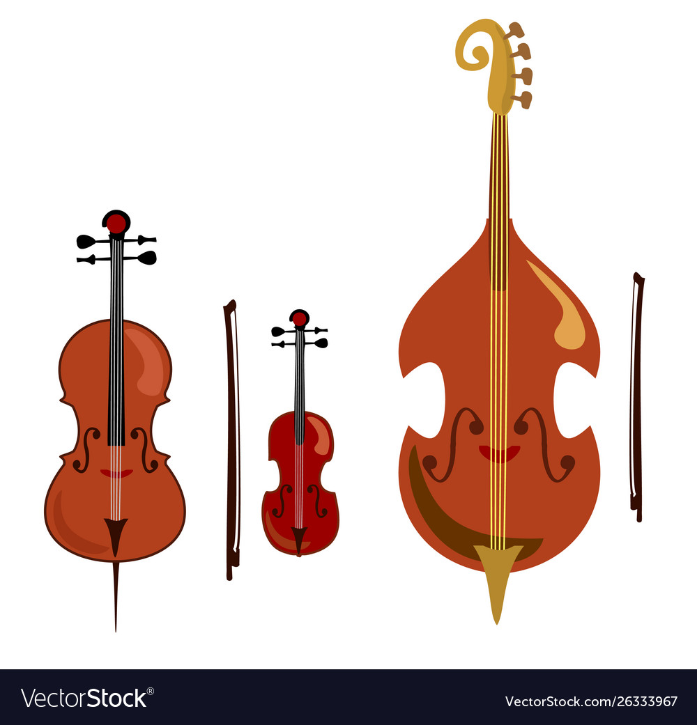 Violin Cello And Double Bass Stringed Music