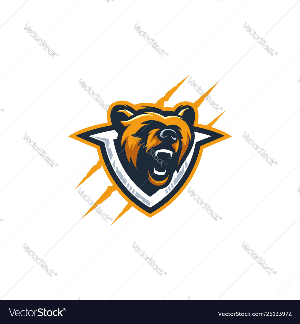 Abstract head bear colorful template