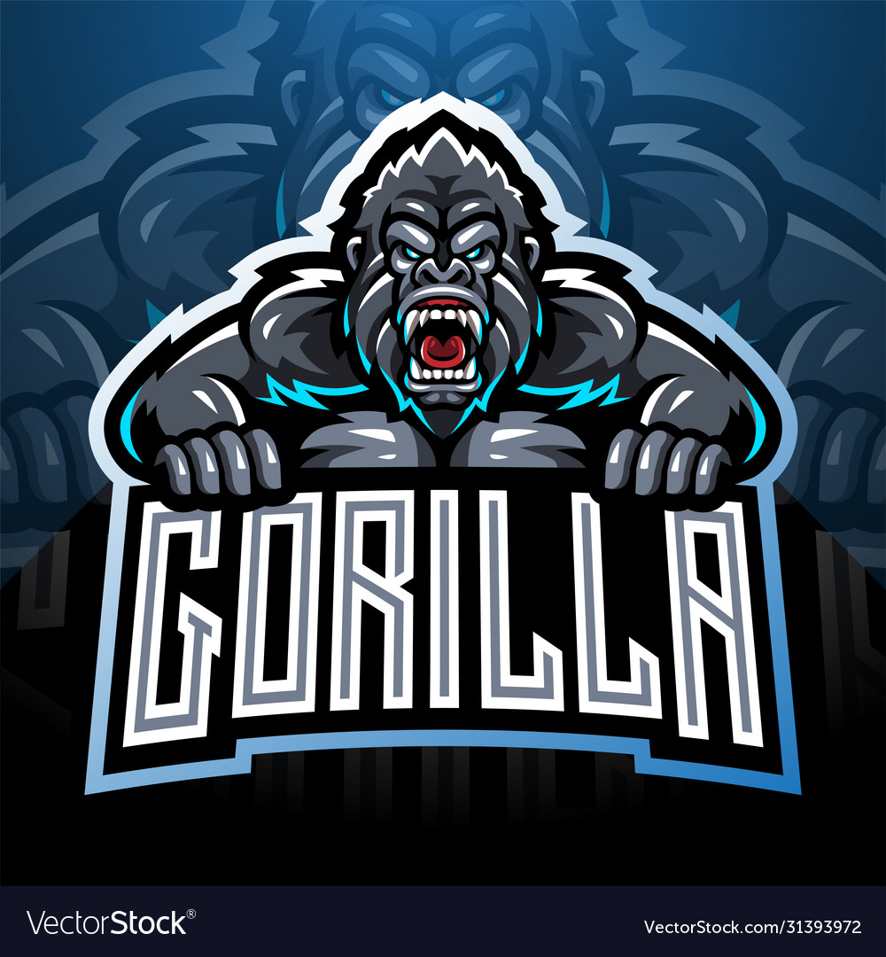 Angry gorilla mascot logo
