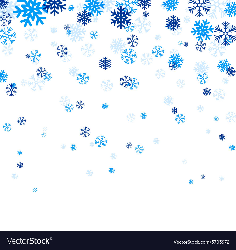 blue falling snowflakes royalty free vector image rh vectorstock com snowflake vector graphics snowflakes vector free download