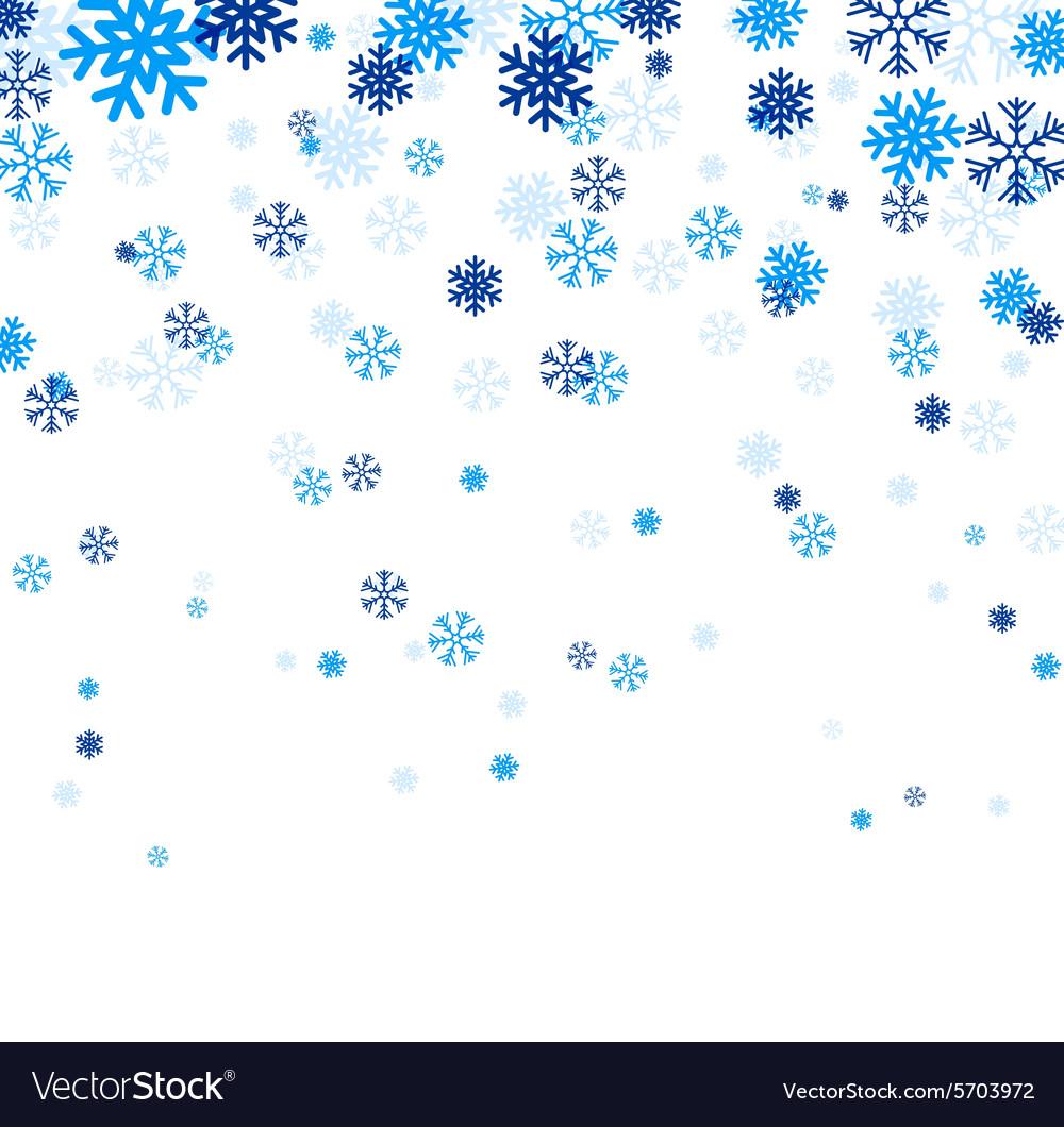 blue falling snowflakes royalty free vector image rh vectorstock com snowflake vector background snowflake vector ai