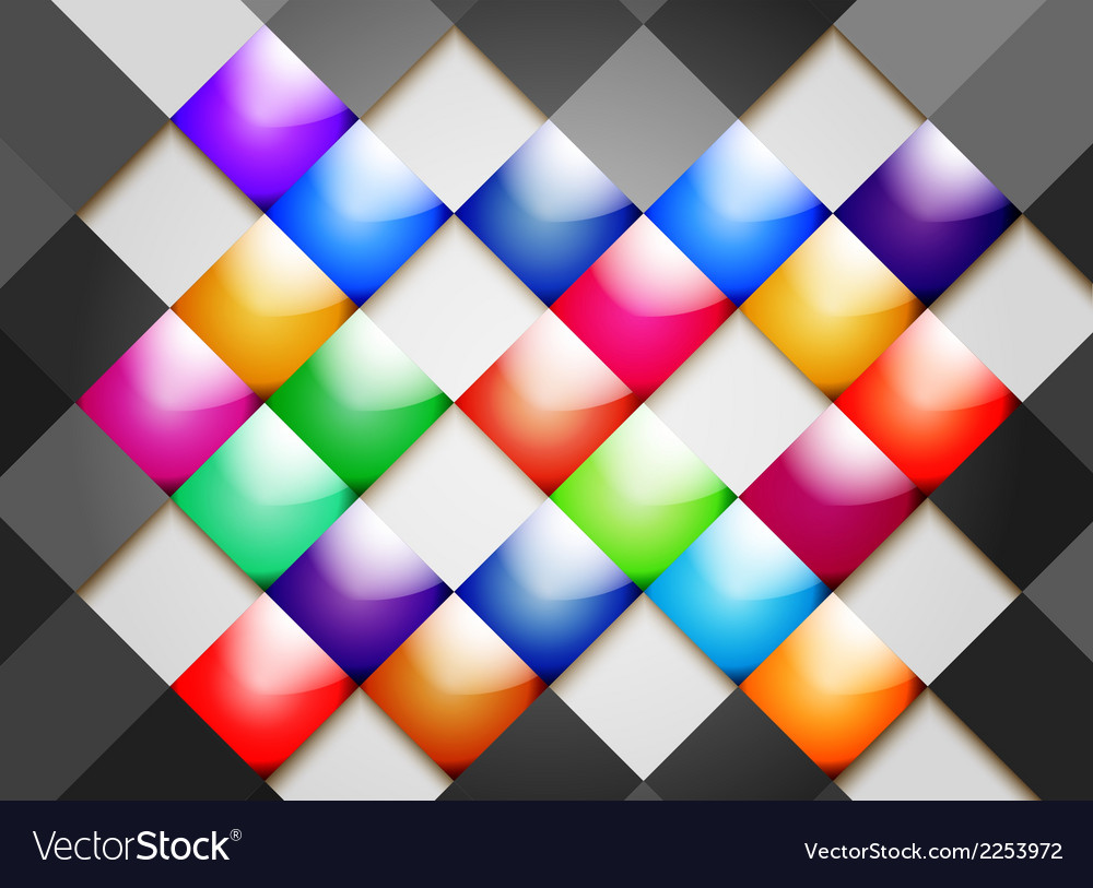 Colorful glossy tile abstract background