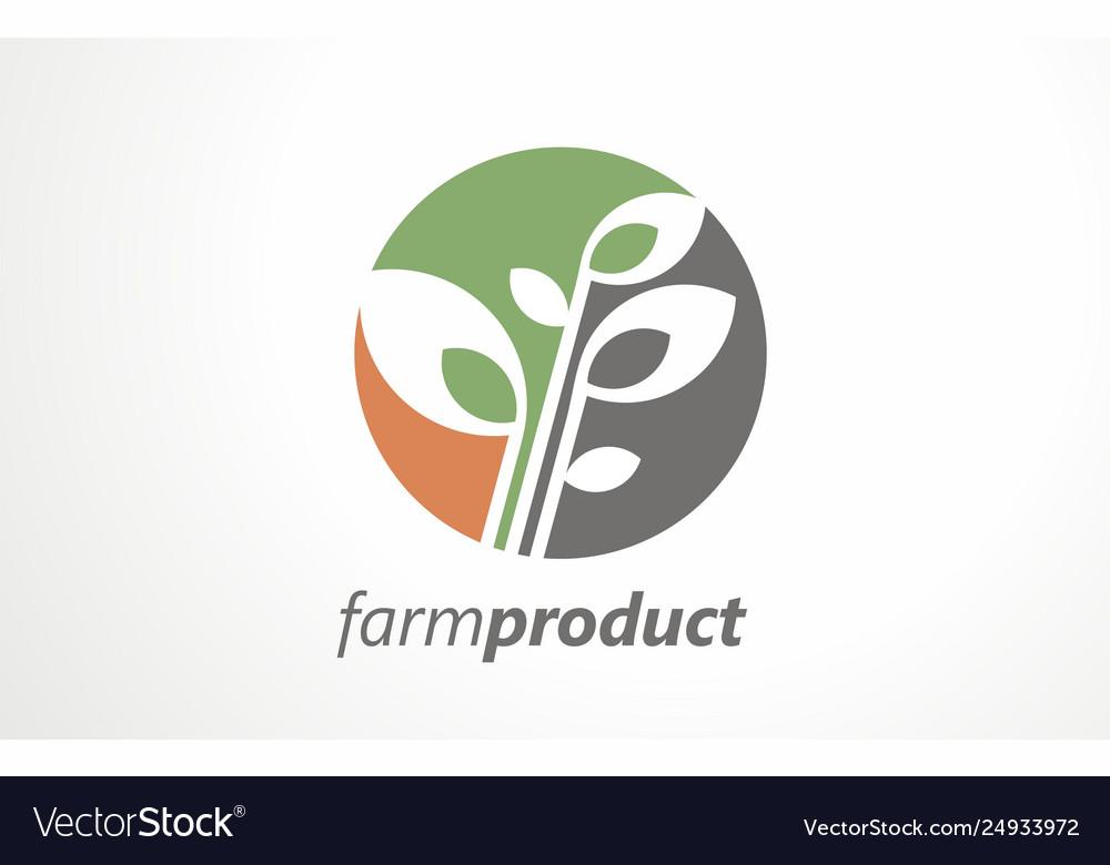 Farm product grain organic logo food mark