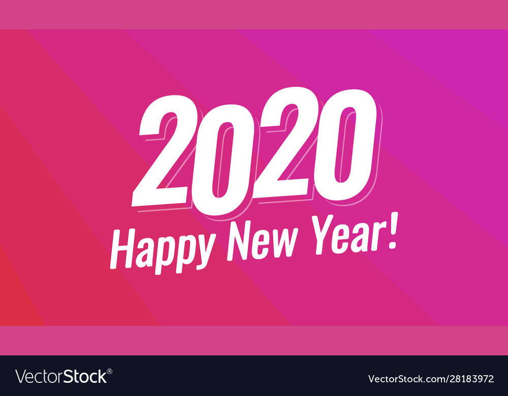 Happy new year 2020 greeting card - christmas