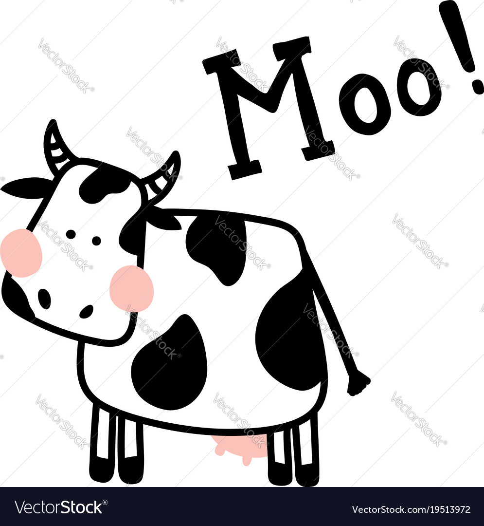 Isolated cow