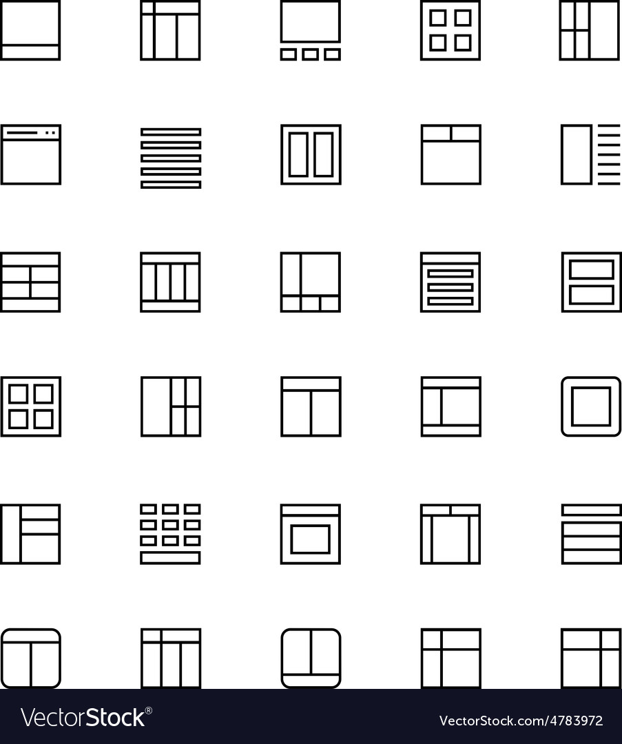Layout Line Icons 3