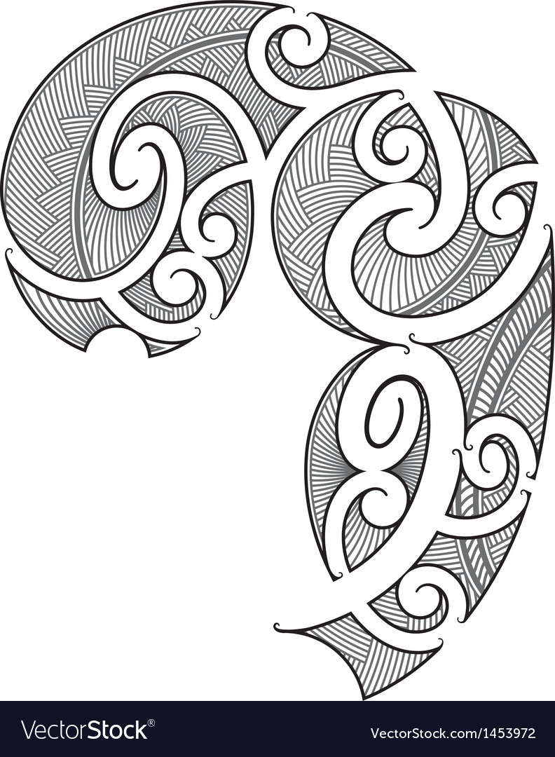 Maori Tattoo Design Royalty Free Vector Image