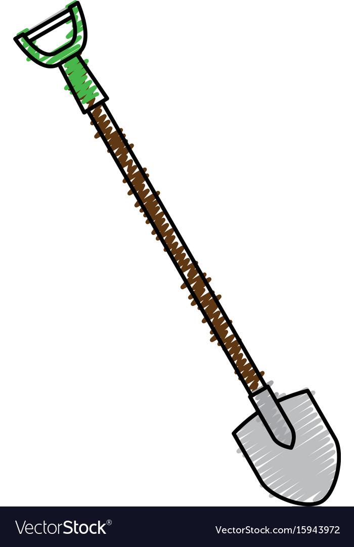 Shovel construction isolated icon
