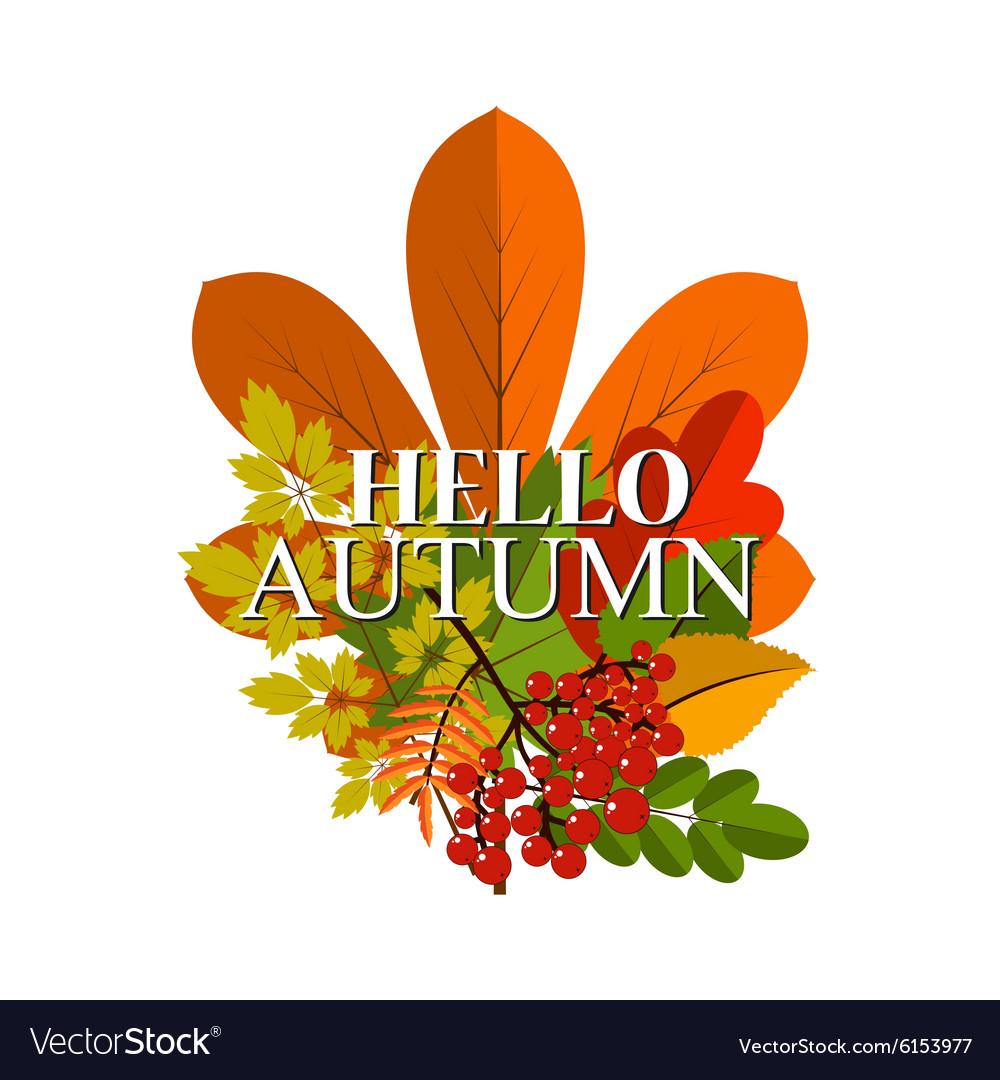 Autumn foliage banner Autumn typographical