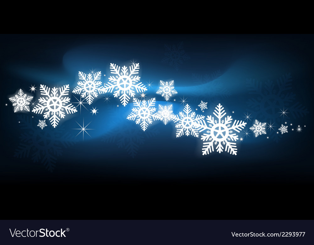 Blue snowflake Christmas background