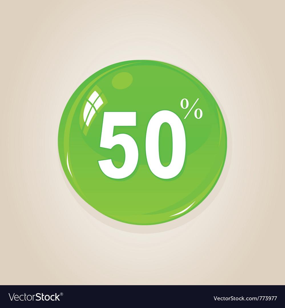 Discount button vector image