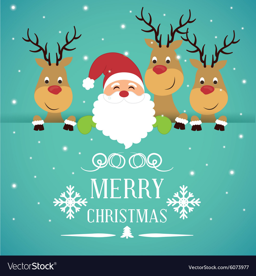 Merry christmas card design Royalty Free Vector Image