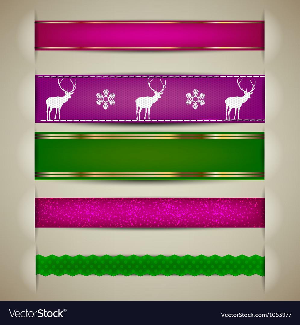Nordic Christmas Ribbon Banners
