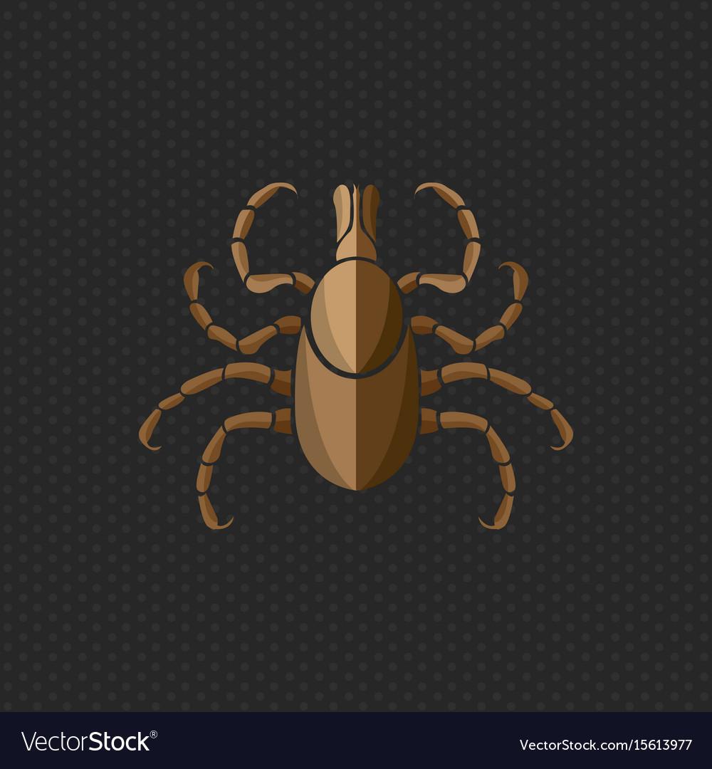Tick borne diseases icon logo design vector image