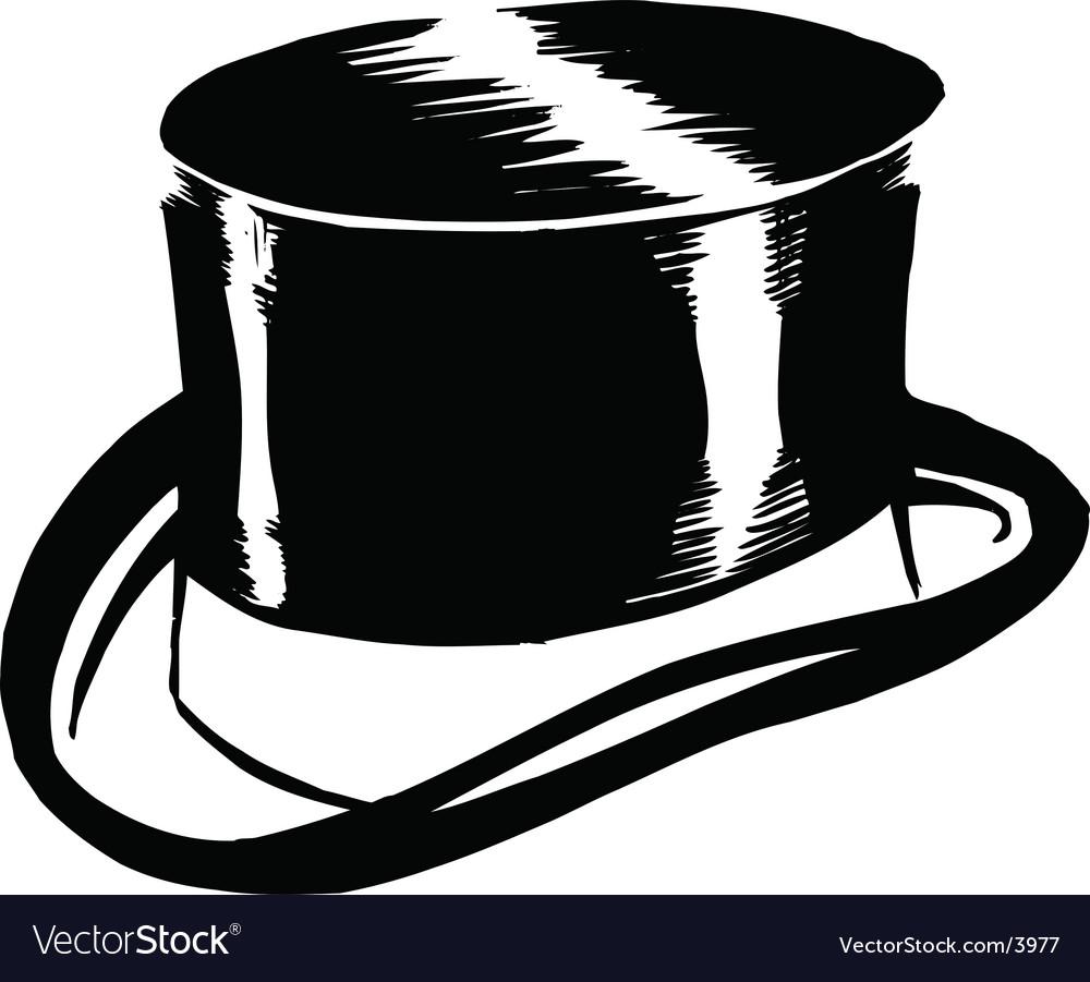 Top hat design vector image