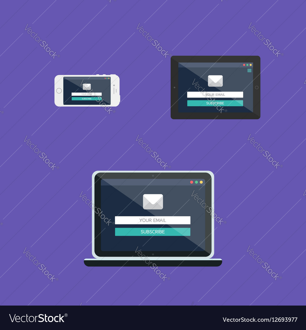 Web Template Of Adaptive Email Form Royalty Free Vector