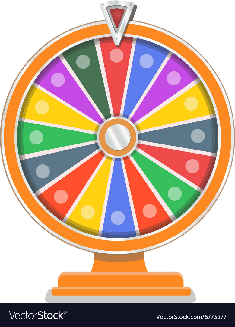 Wheel Of Fortune Flat Design Template Royalty Free Vector
