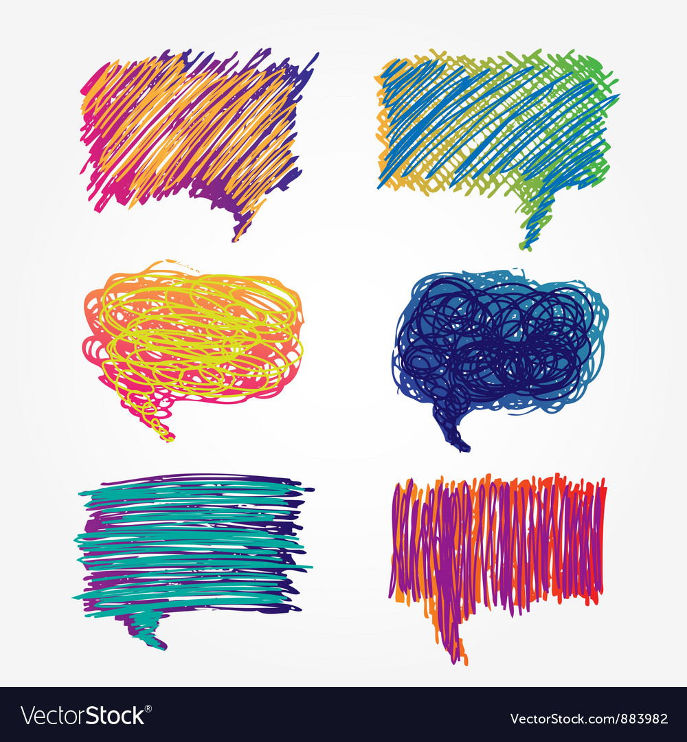 Colorful speech bubbles set vector image