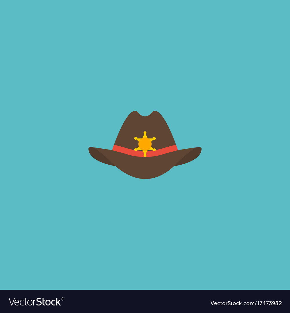 Flat icon sheriff hat element