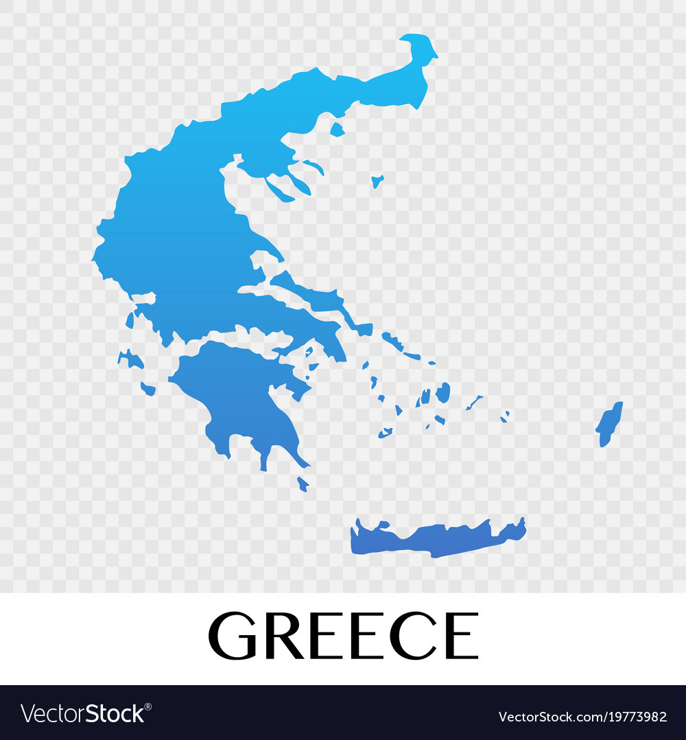 Greece Map In Europe Continent Design Royalty Free Vector