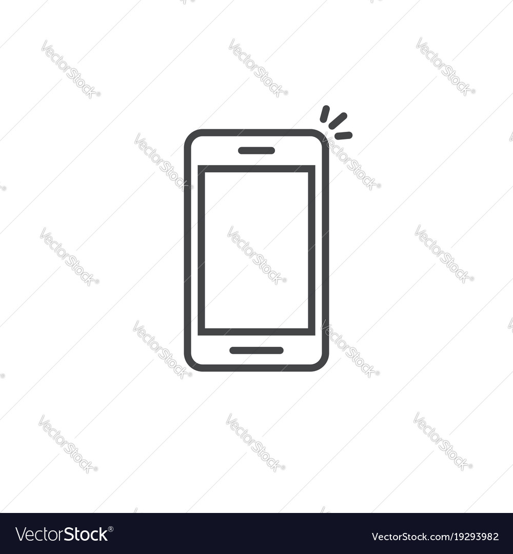 mobile phone icon line art outline royalty free vector image