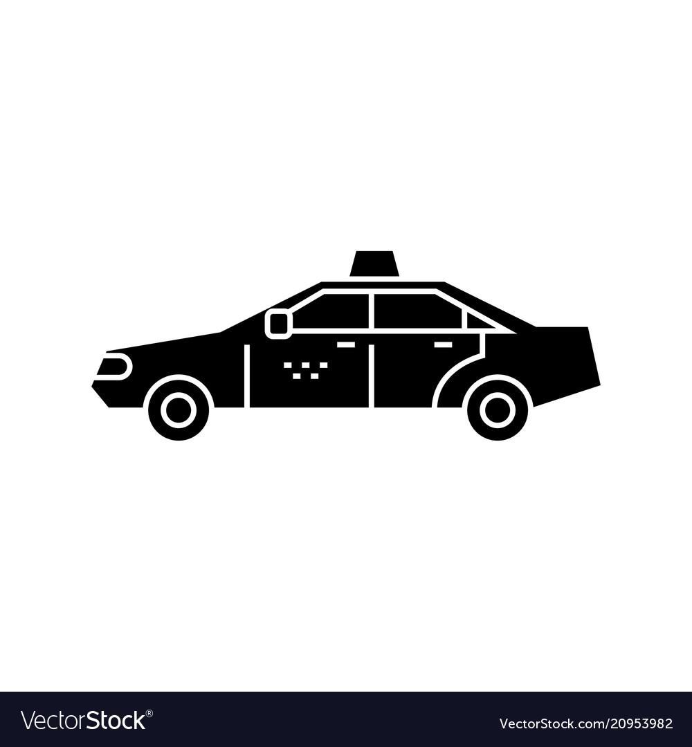Taxi black icon concept taxi sign symbo