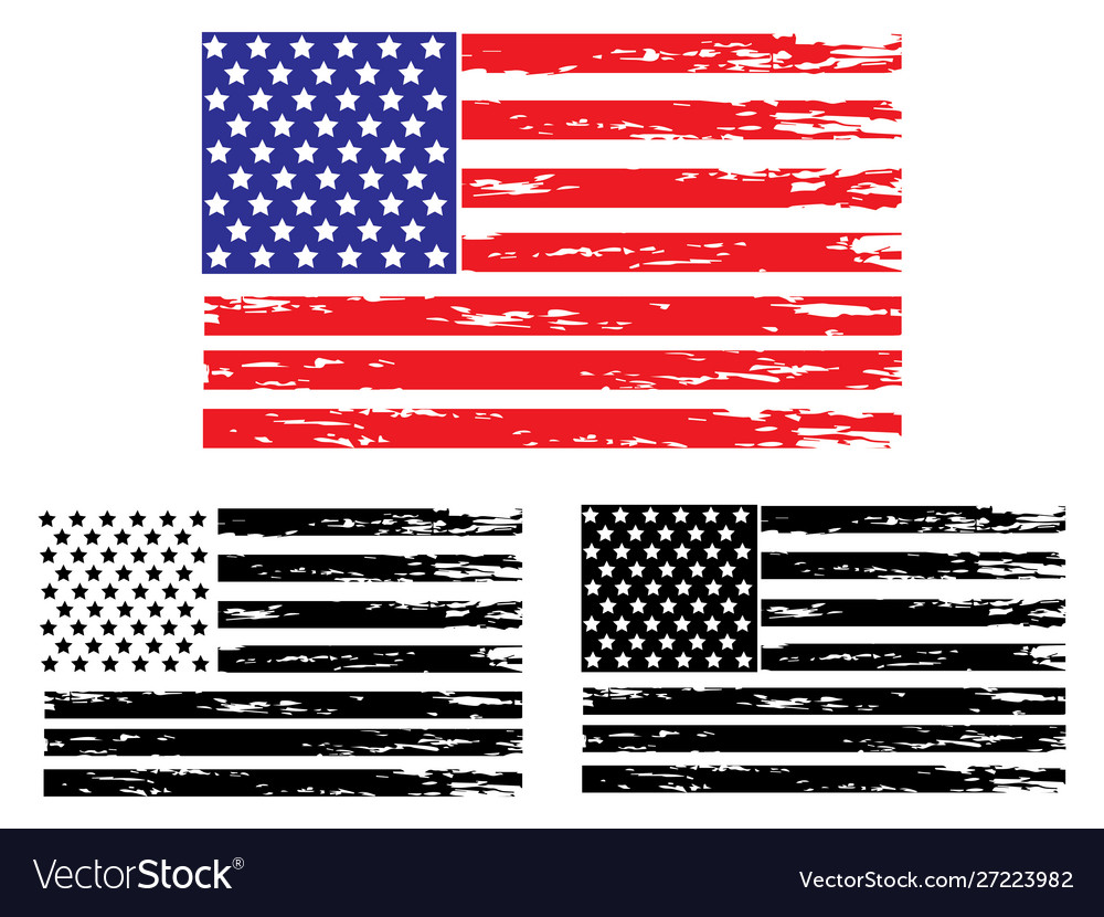 Usa grunge flag painted american symbol of