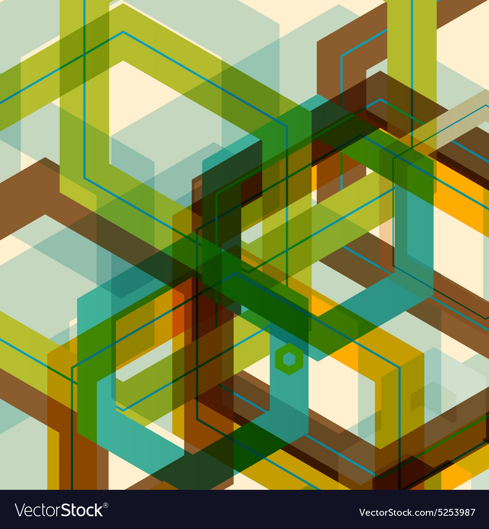 Background of large colored hexagons eps
