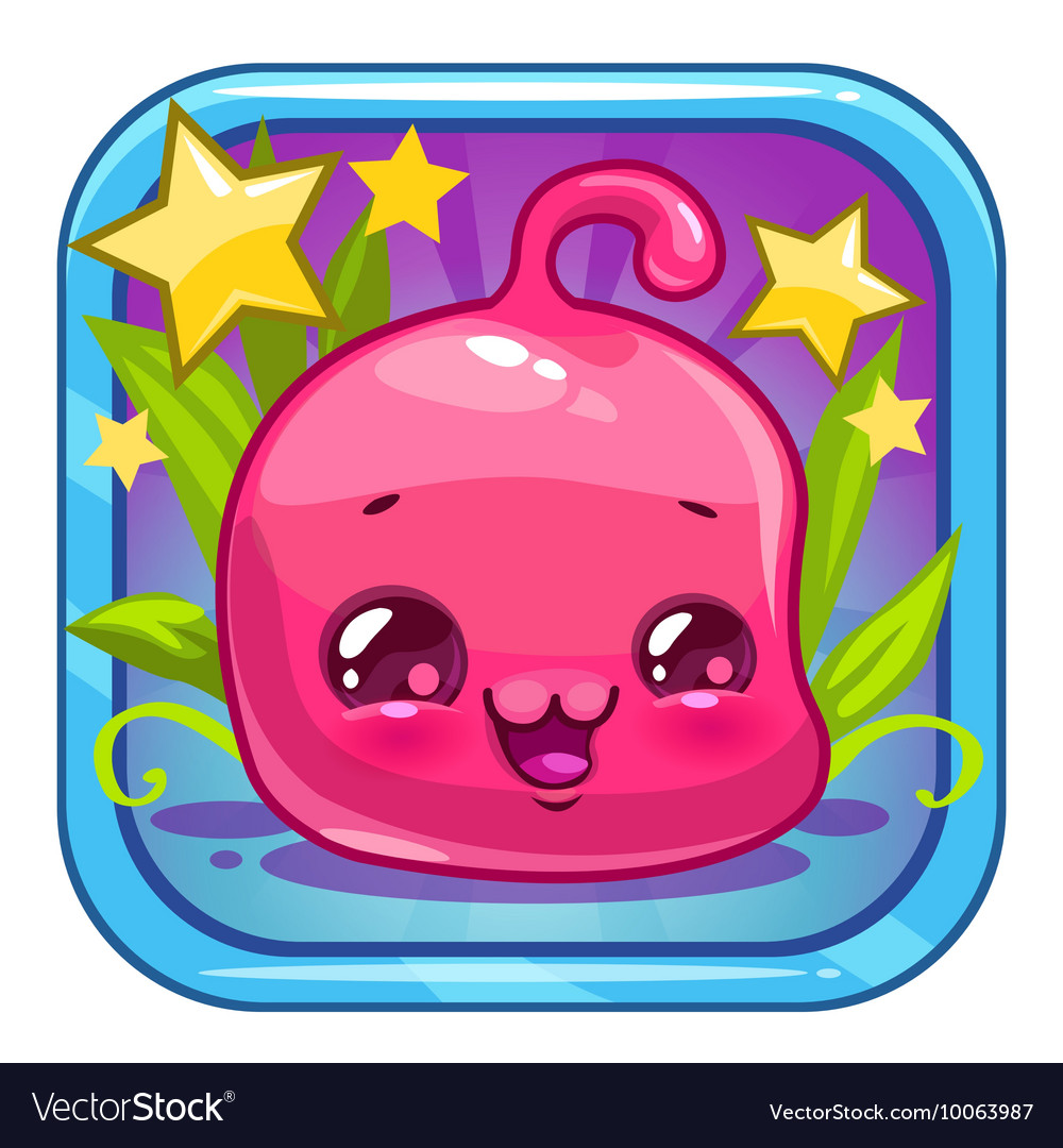 Funny jelly alien character