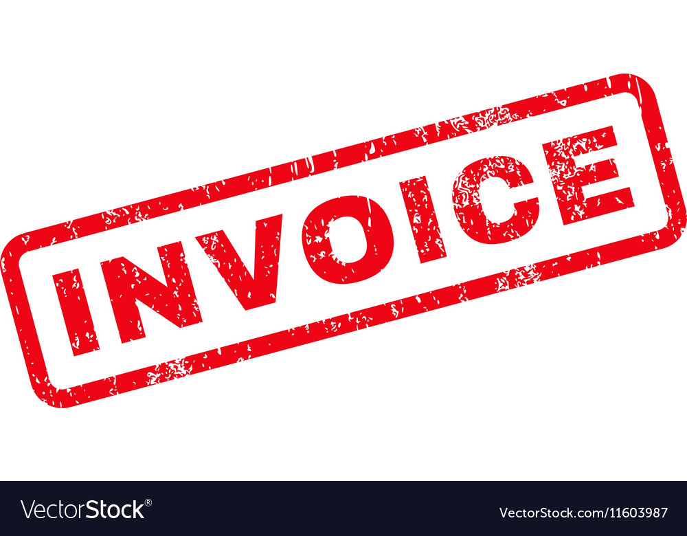 Invoice Text Rubber Stamp Royalty Free Vector Image - Invoice stamp
