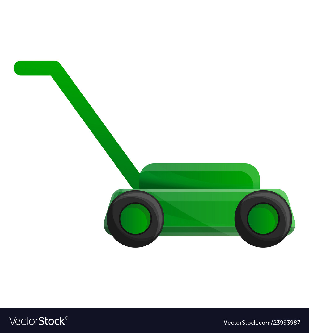 Lawn Mower Icon Cartoon Style Royalty Free Vector Image