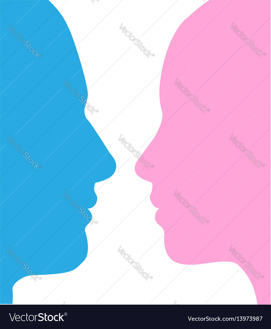 man and woman faces silhouette royalty free vector image rh vectorstock com face silhouette vector download face silhouette vector